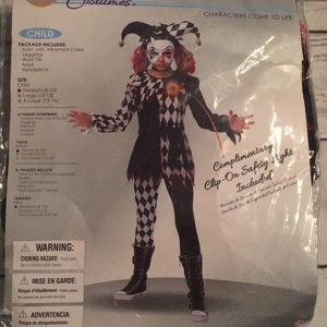Kids Creepy Jester Costume